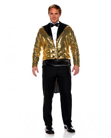 Pailletten Kostüm Frack gold