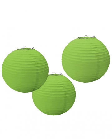 Paper Lantern Set 3 Pieces Green