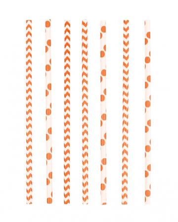 24 paper straws orange