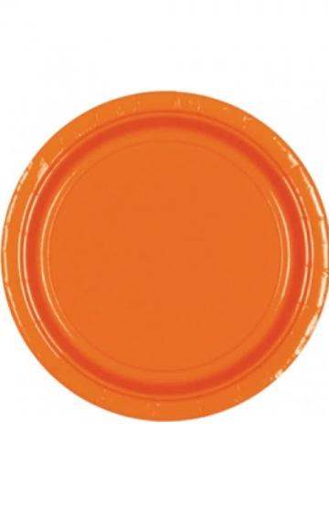 Pappteller Orange