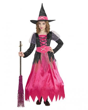 Pinke Hexe Kinderkostüm mit Reifrock