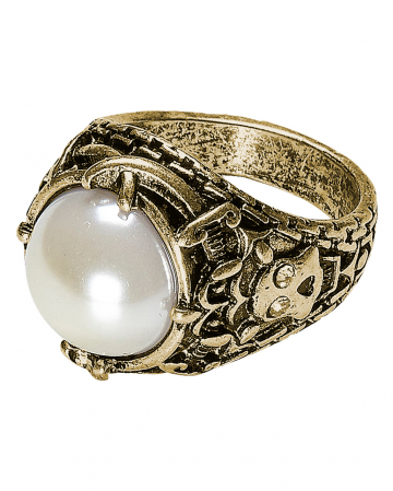 Gothic Ring With Pearl