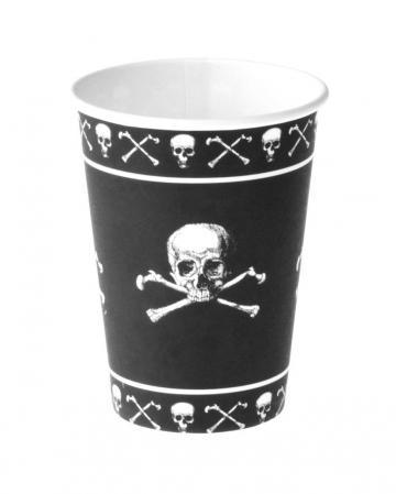 Piraten Totenkopf Becher