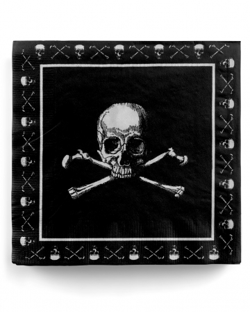 Pirate Skull Napkins 20 Pcs
