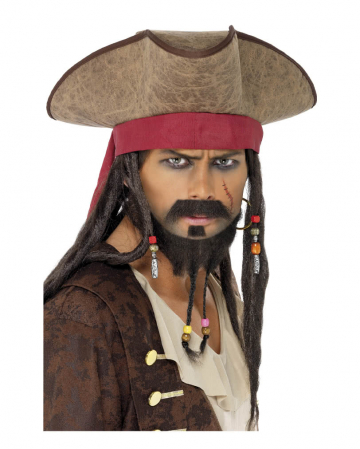 Pirate with dreadlock hair