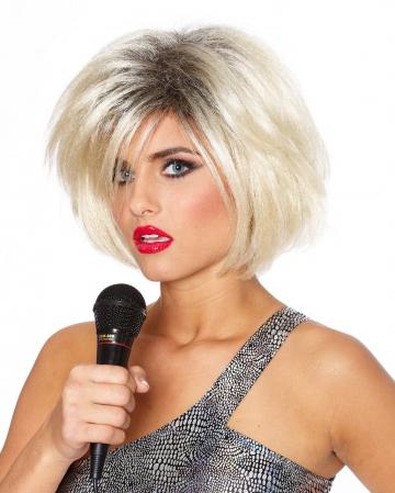 Pop Star Perücke 80er blond