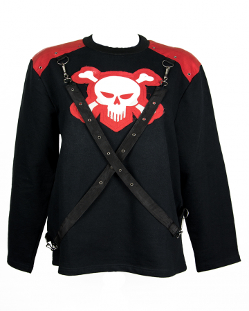 Skull Sweatshirt With Ribbons