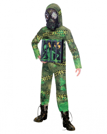Quarantäne Zombie Alien Kinderkostüm