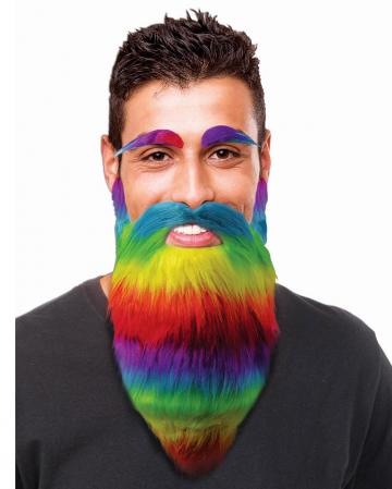 Rainbow Full Beard & Eyebrows
