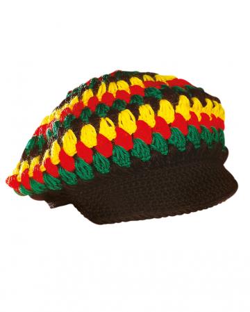 Jamaica Crocheted Cap With Umbrella