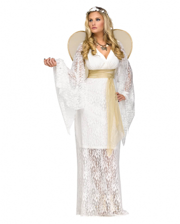 Angel costume with wings white