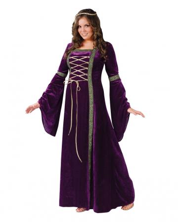 Damsel Of The Castle Costume Purple Plus Size