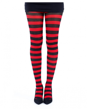 Retro Punk Tights Red-black