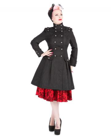 Gothic Brocade Coat Black