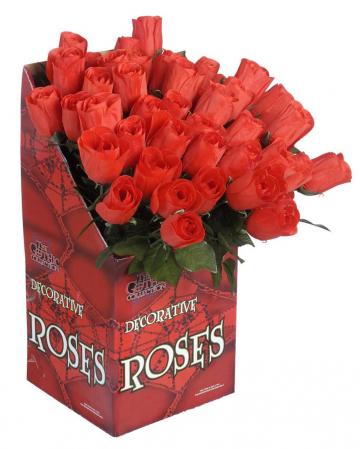 Rote Rose mit Stiel