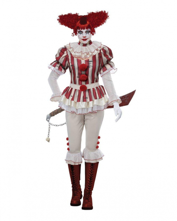Sadistic Horror Clown Ladies Costume