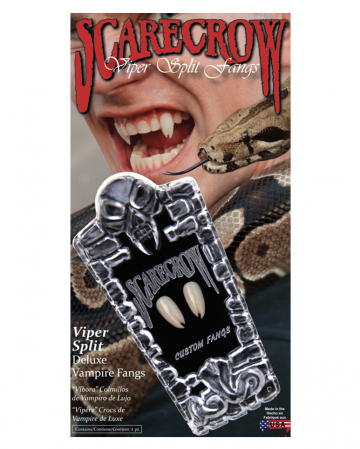 Scarecrow Viper Split Vampire Teeth