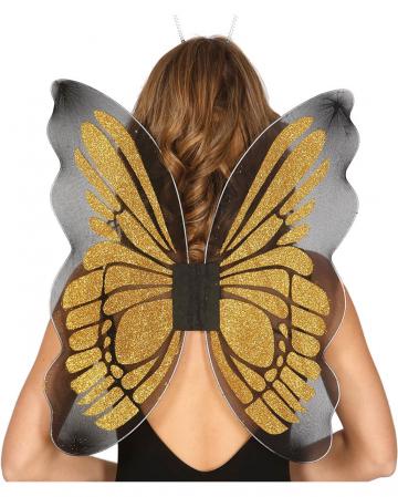 Butterfly Wings Black/gold