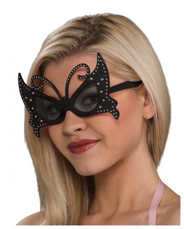 Schmetterling Brille schwarz