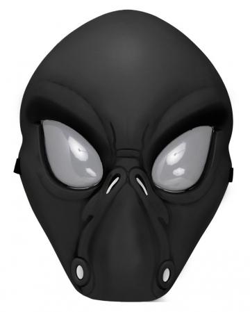 Black Alien Half Mask
