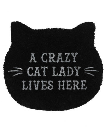 Black Cat Lady Doormat