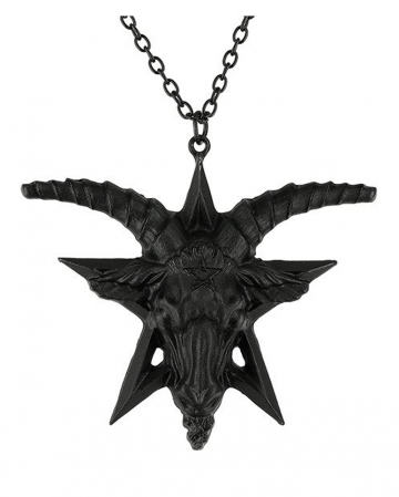 Black Gothic Baphomet Necklace