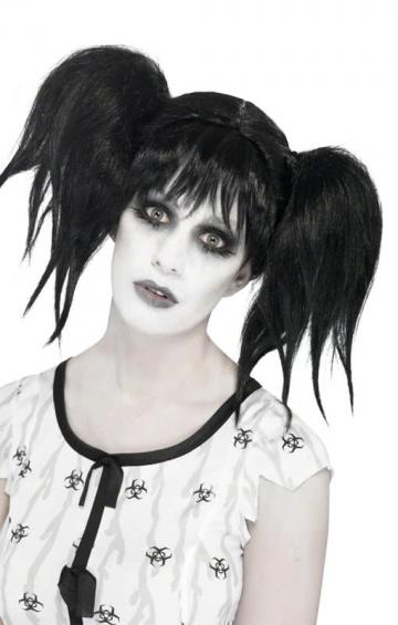 Abby Zopf Perücke schwarz