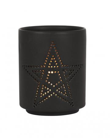 Black Pentagram Tealight Holder