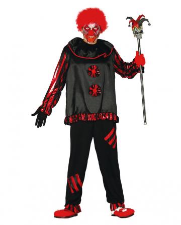 Schwarzer Zombie Clown Kostüm