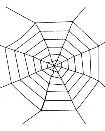 Black Spider Web 100 Cm