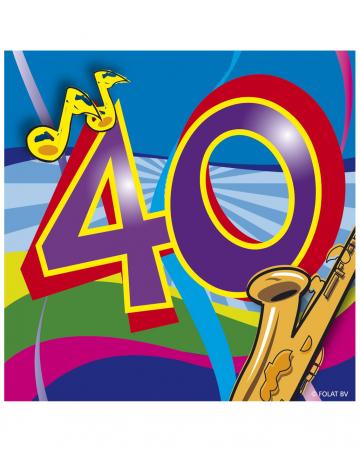 Servietten Swirls 40. Geburtstag
