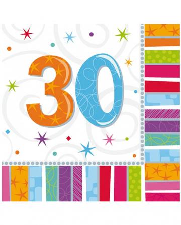 Napkins Happy Birthday 30