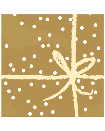 Napkins with bow gold 20 pc.