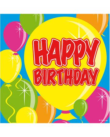 Napkins Happy Birthday Balloon