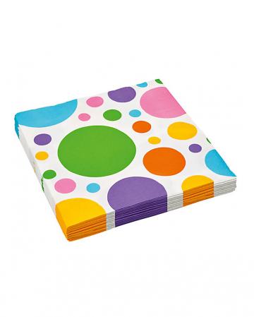 Napkins rainbow dots 20 pcs