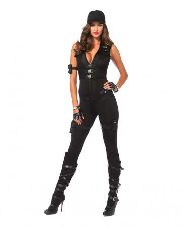 Sexy SWAT Commander Women Deluxe Costume