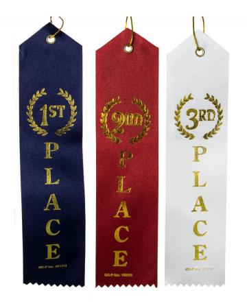 Sieger-Auszeichnung 1. bis 3. Platz