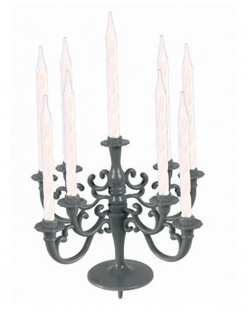 Silberfarbener Kerzenständer für Kuchen & Torten