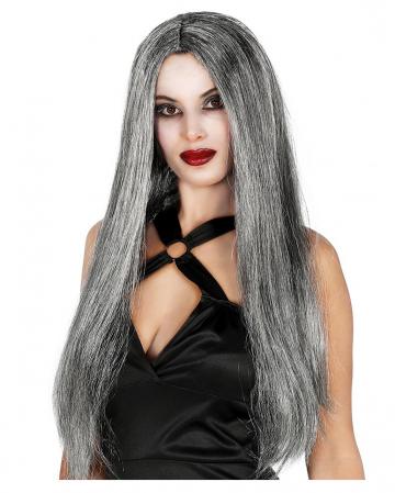 Silver Gray Mottled Longhair Wig