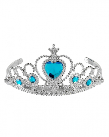 Silver Princess Tiara With Turquoise Stones