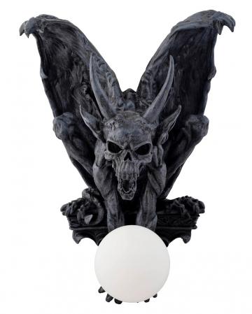 Sitting Gargoyle With Horns Wall Lamp