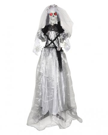 Skelett Braut Standfigur 160cm