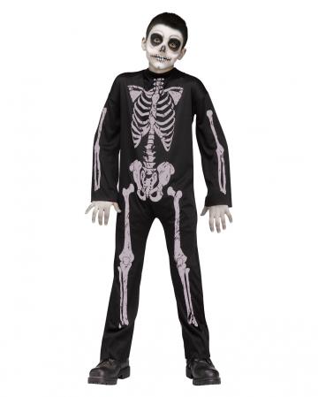 Skelett Kinder Kostüm Jumpsuit