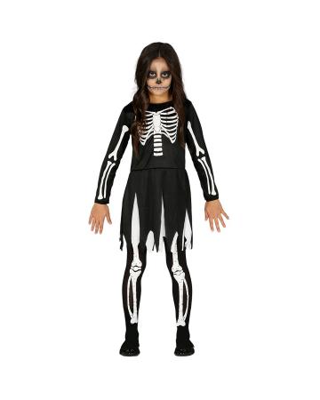 Skelett Mädchen Halloween Kostüm für Kinder