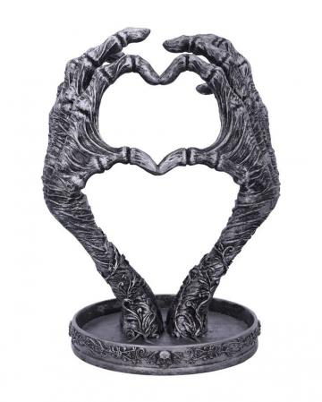 Skeletthand mit Herz Schmuckhalter