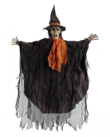 Skelettierte Hexe Hängefigur