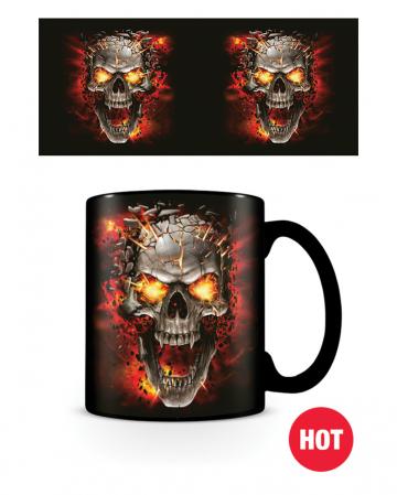 Skull Blast Totenkopf Tasse mit Thermoeffekt