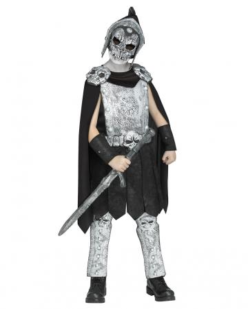 Skull gladiator kids costume with mask