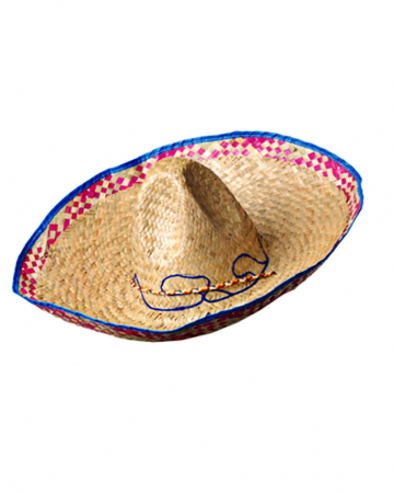 Sombrero With Blue Border