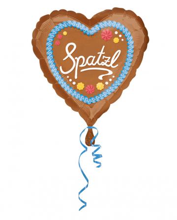 Spatzl Lebkuchenherz Folienballon